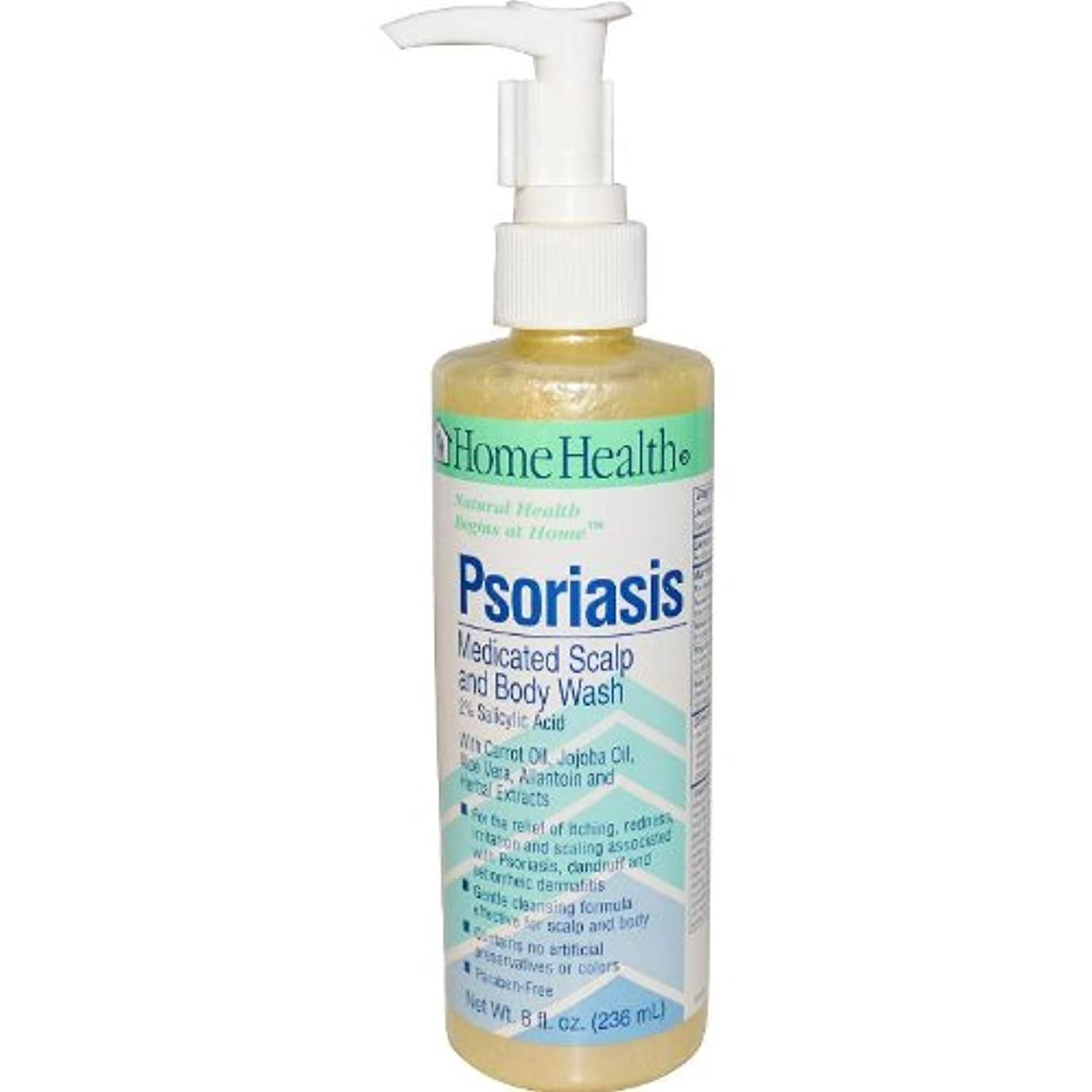 ロードハウスフレッシュ建設Home Health Psoriasis Medicated Scalp and Body Wash, 8 Ounce by Home Health