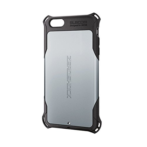 ELECOM iPhone6S Plus iPhone6 Plus ZEROSHOCKケース シルバー PM-A15LZEROSV