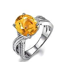 Aooaz ジュエリー シルバー製 婚約指輪 オーバル 記念日 リング レディース シルバー サイズ:17