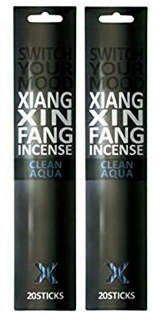 不定小さな信仰(2個セット) XIANG XIN FANG(シャンシンファン) インセンス クリーンアクア 20本入(お香)