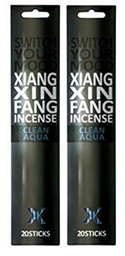 三角形一時的クラック(2個セット) XIANG XIN FANG(シャンシンファン) インセンス クリーンアクア 20本入(お香)