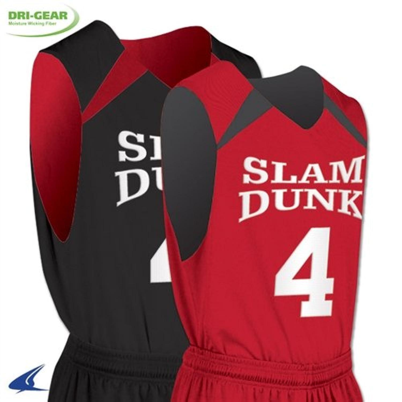 Champro大人用Pro Plusリバーシブルバスケットボールジャージー – ホワイト/ブラック – 4 x l