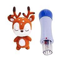 D DOLITY ツール付き ニードルフェルトキット スターター 子供 かわいい ふわふわ 動物 クリスマス 鹿