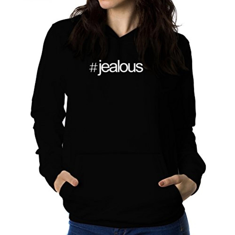 Hashtag jealous 女性 フーディー