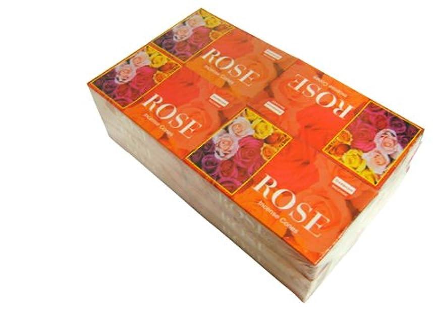 気難しい中世の上へDARSHAN(ダルシャン) ローズ香 コーンタイプ ROSE CORN 12箱セット