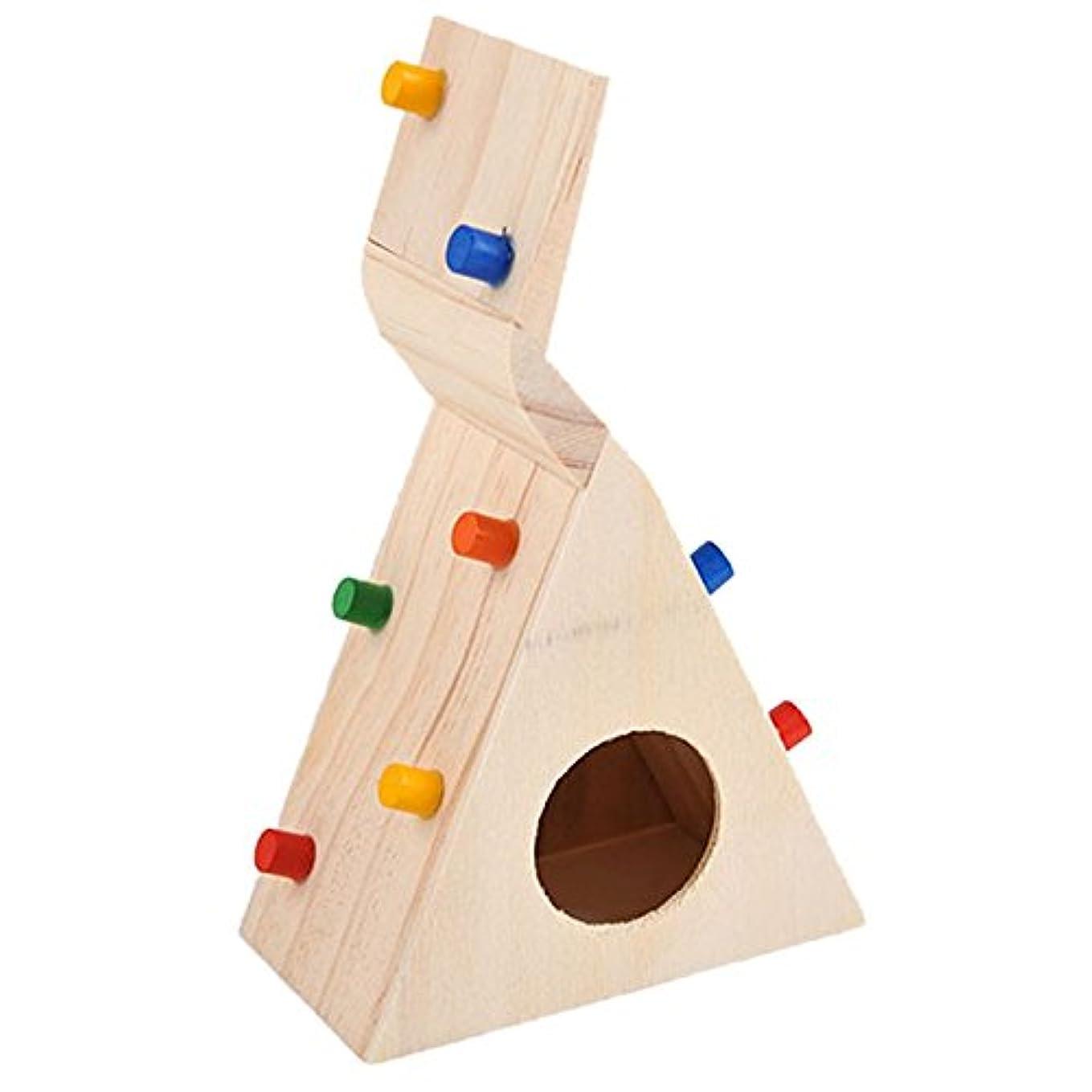 浸食染料進化RETYLY 小さなペット?ハムスター用のアクセサリー クライミング梯子 小さなラット、スナネズミ、ハムスター玩具 ペットのコスチューム店 ハムスターのおもちゃ