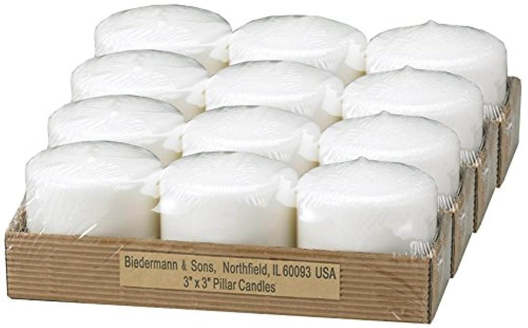 全滅させる失業引退するビーダーマン&サンズC303WT小さな白いピラーキャンドル
