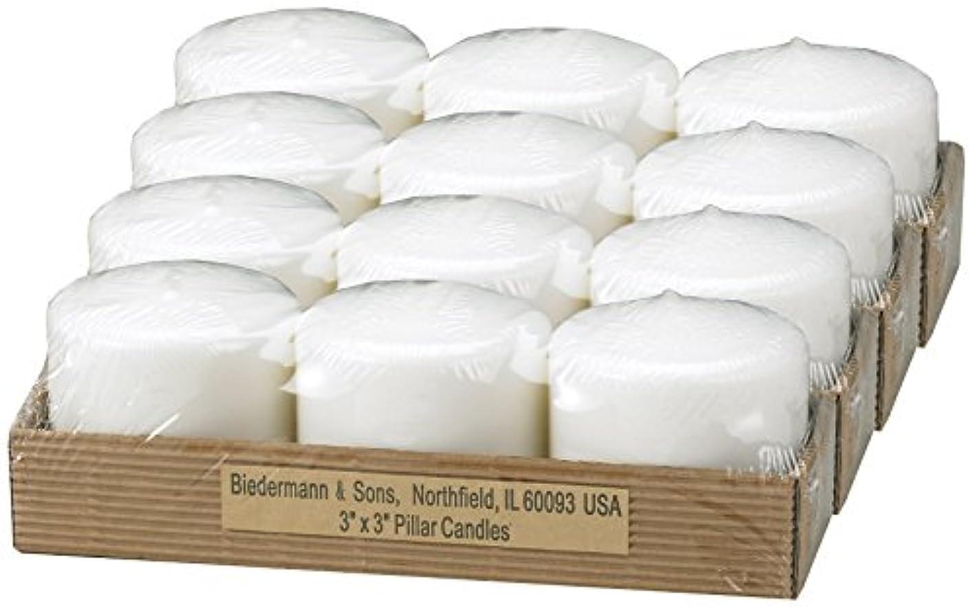 ビーダーマン&サンズC303WT小さな白いピラーキャンドル