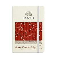 カエデの葉は、7月4日の幸せなカナダ クラシックノートブッククラシックジャーナル日記A 5