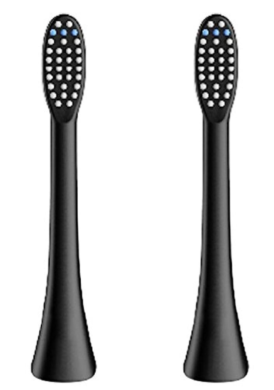 秘密の神経野な(正規品)InfinitusValue スマートトラッキング電動歯ブラシ専用替えブラシ レギュラーサイズ 2本組 ブラック IVHB01BBR2