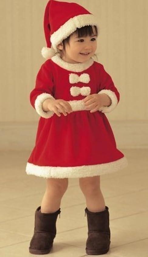 船員スリットに負けるお子様 サンタ サンタクロース クリスマス コスプレ 衣装 子供 女の子 90cm