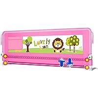 LHA ベッドガード?フェンス 子供用ベッドフェンスベビーシャッター抵抗フェンス大きなベッドバッフル (色 : Pink, サイズ さいず : L-180cm)