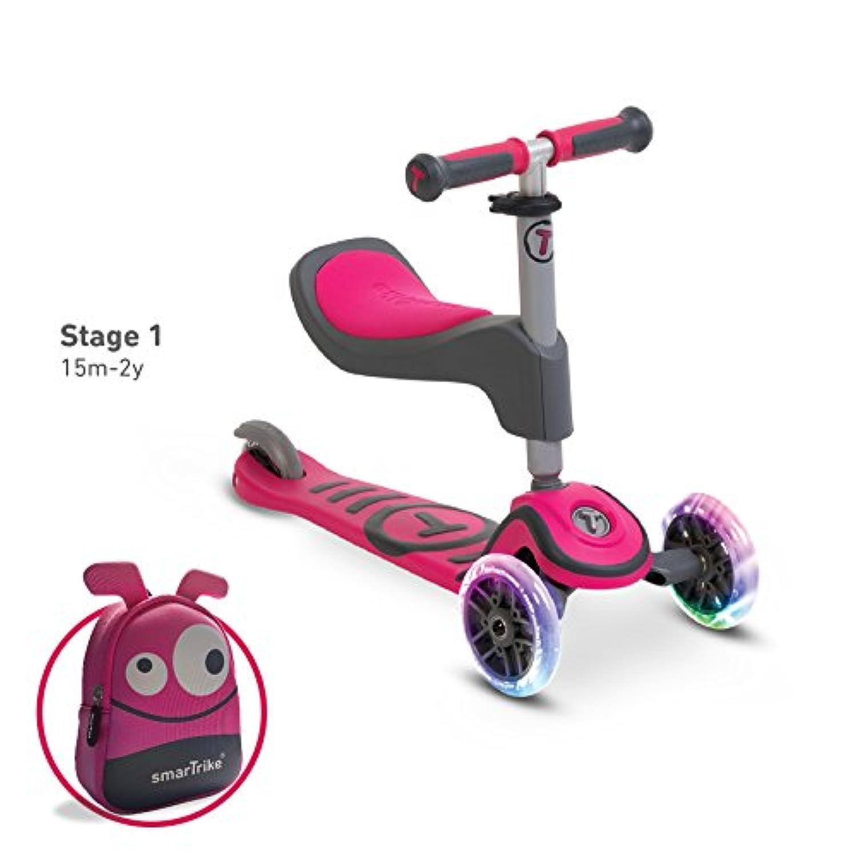 スマートトライク T-スクーター T1 T-scooTer キックスクーター (ピンク)