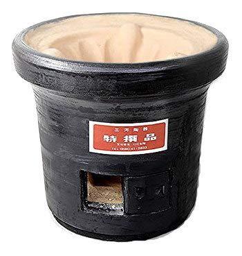 三河産黒七輪 直径30cm 杉松製陶製 黒木炭コンロ