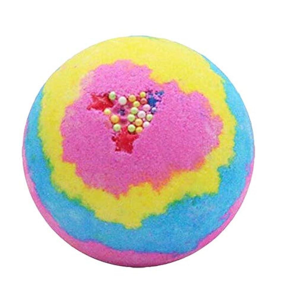 SODIAL レインボー ローズ入浴ボムズボール、スパ 誕生日プレゼント 潤いを与えます 女性のため、彼女のためのバスボムギフト