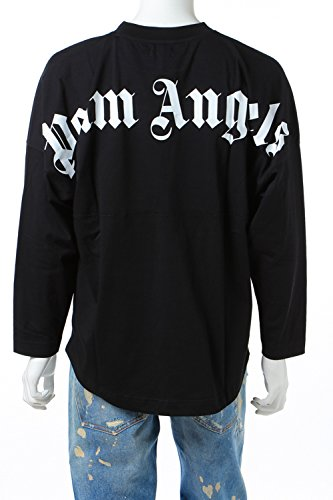 (パームエンジェルス) PALM ANGELS ロングTシャツ メンズ (PMAB001F 084024) ブラック 【並行輸入品】【S-ブラック】