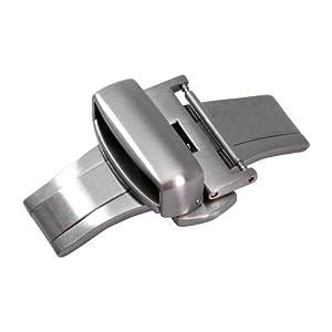 [カシス]CASSIS PBF BUCKLE SILVER プッシュ式観音開きDバックル サテンシルバー 22mm CASSS 022 CASSS 022