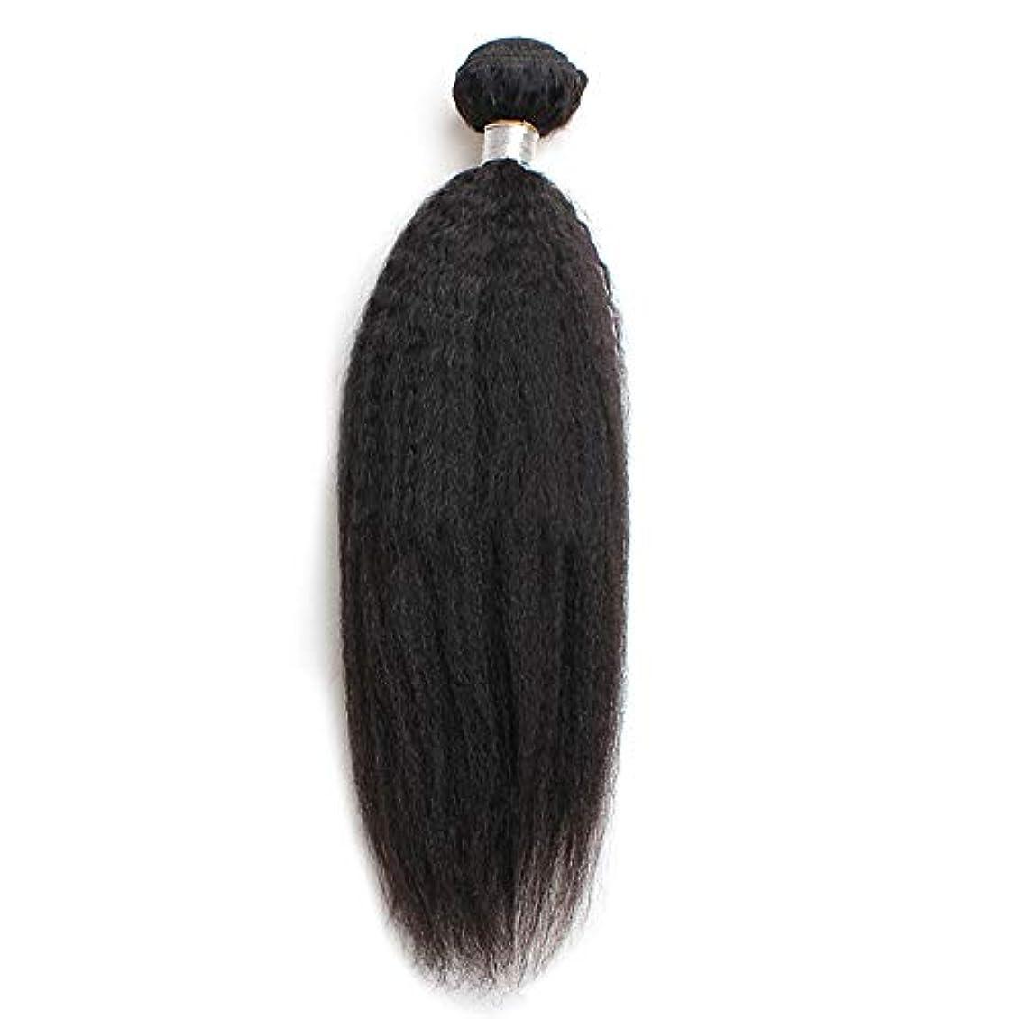 ハシー幻想原子炉WASAIO ブラジル焼きUnbowedバンドル人間の髪織り閉鎖ボディ100%レミー (色 : 黒, サイズ : 12 inch)