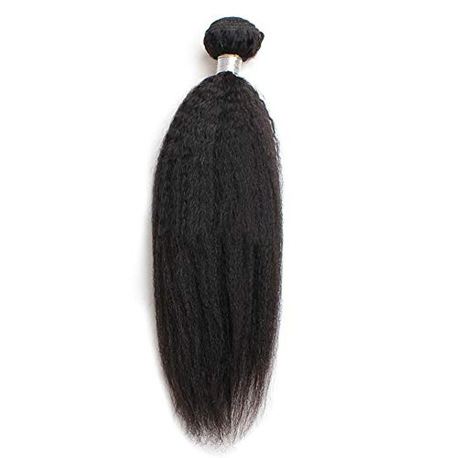 チーズ消毒する回路WASAIO ブラジル焼きUnbowedバンドル人間の髪織り閉鎖ボディ100%レミー (色 : 黒, サイズ : 12 inch)