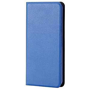 エレコム iPod touch 2015 レザーカバー カードポケット付 横型フラップ 薄型 ケース ブルー AVA-T15PLFUBU