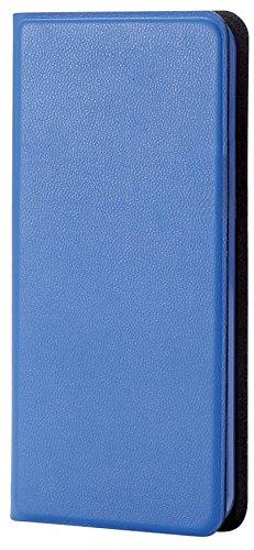 エレコム iPod touch 2015 レザーカバー カードポケット付 横型フラップ 薄型 ブルー AVA-T15PLFUBU