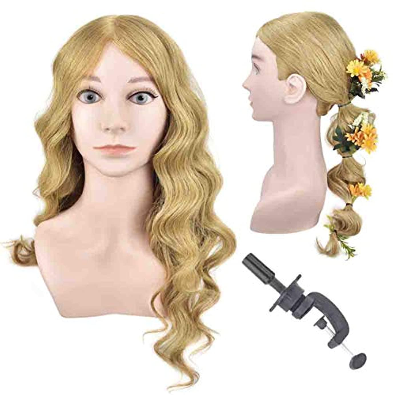 キャベツ扇動病な編んだ髪のヘッドモデル本物の人間の髪のスタイルの学習モデルヘッドサロンの学習は熱いと染めた髪のダミーの頭にすることができます