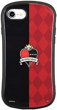 グルマンディーズ ディズニー ツイステッドワンダーランド iPhone8/7/6s/6(4.7インチ)対応 ハイブリッドガラスケース ハーツラビュル レッド DN-699A