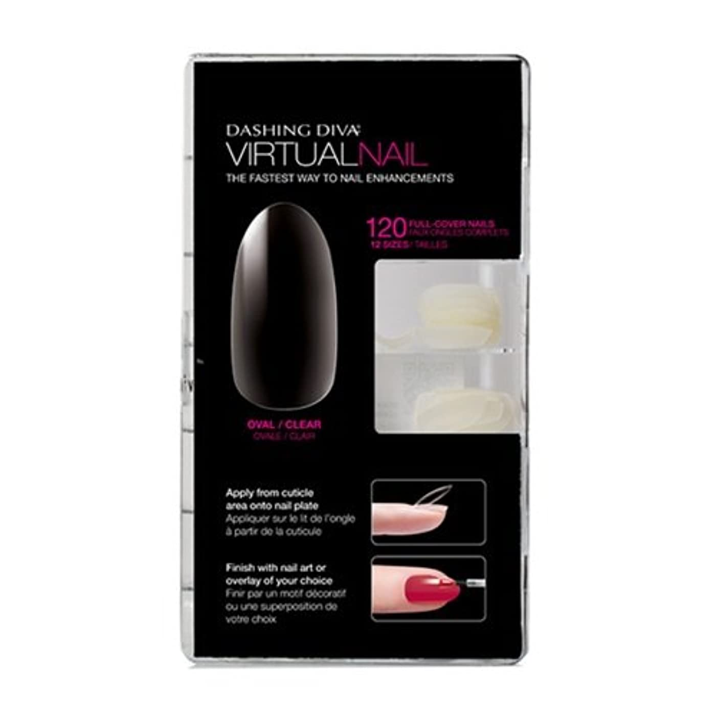 接尾辞おいしい日光Dashing Diva - Virtual Nails - Oval / Clear - 120ct