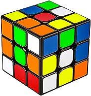 Magic Cube 魔方 (日本語6面完成攻略書) 競技専用キューブ 回転スムーズ 立体パズル 世界基準配色 ストレス解消 脳トレ ポップ防止 (ブラック 標準版)