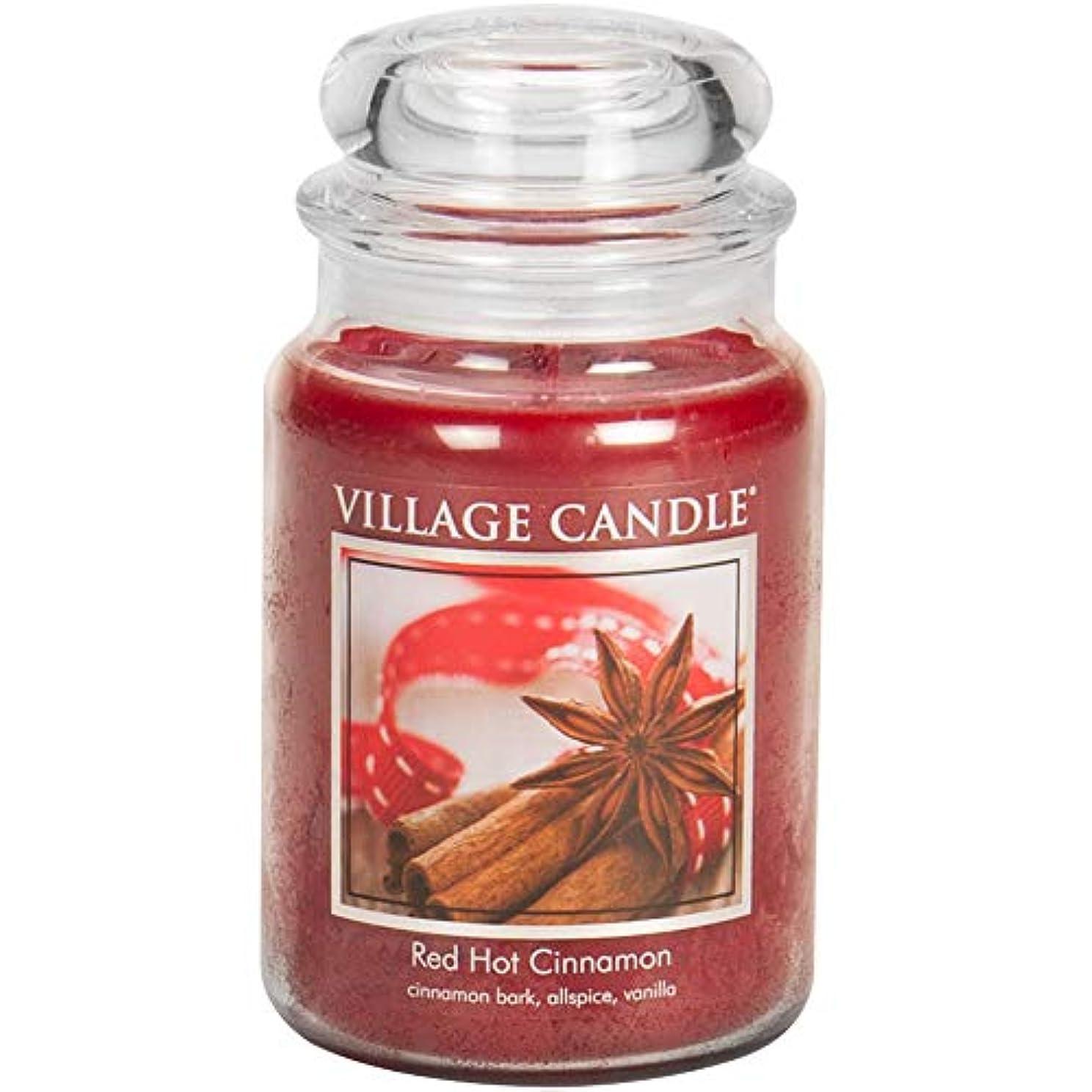 宿題をするセッションファイバVillage Candle Scented Large Jar 26oz - RED HOT CINNAMON by Village Candle