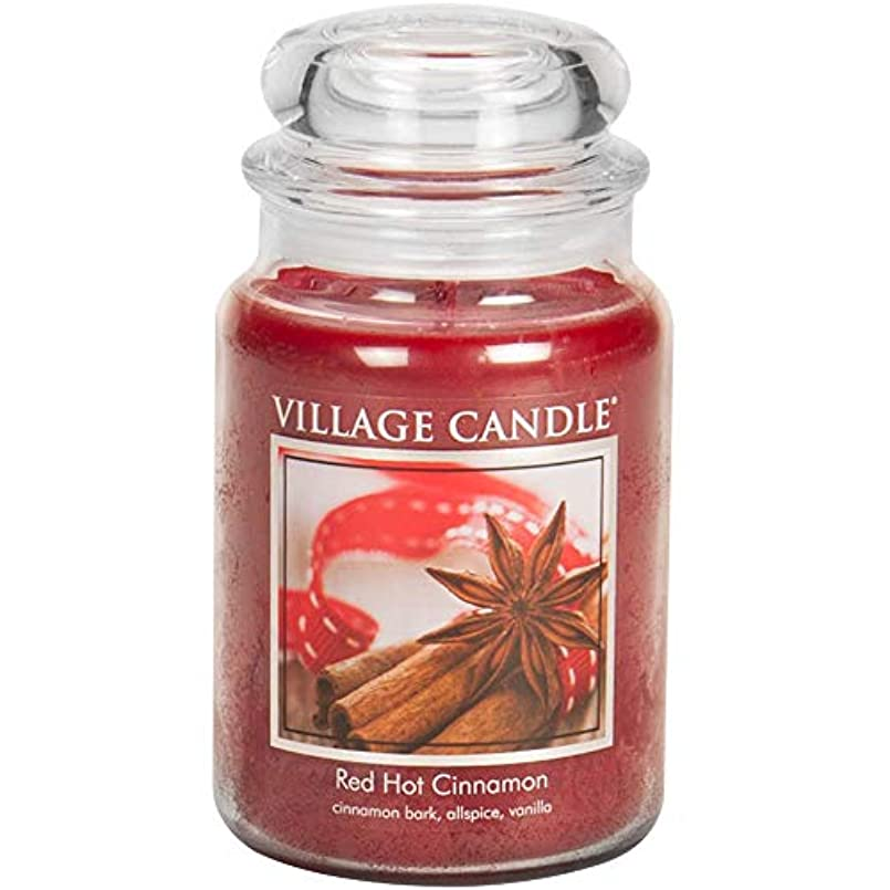 不条理動機エコーVillage Candle Scented Large Jar 26oz - RED HOT CINNAMON by Village Candle