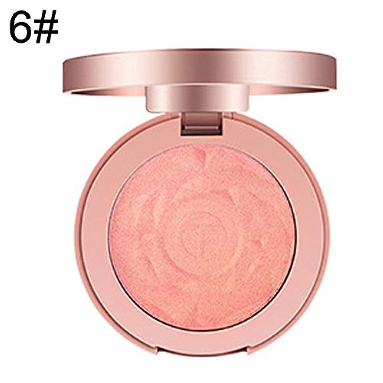 照らす発掘する積分プロ6色フェイスブラッシャーパウダー長続きがする明るく頬化粧品メイク - 6#