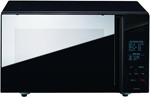 TWINBIRD ミラー ガラスフラット電子レンジ(ブラック) DR-4259B