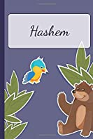 Hashem: Personalized Notebooks • Sketchbook for Kids with Name Tag • Drawing for Beginners with 110 Dot Grid Pages • 6x9 / A5 size Name Notebook • Perfect as a Personal Gift • Planner and Journal for kids