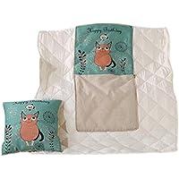 ファッションピンクの猫の果物の枕は、オフィスのランチブレイクの子供のキルトに使用