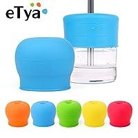 ETYA 1PCストローオーバーフローカップカバーキッズY幼児カップ、グラス飲酒ツールをアンチsedのyの水の5色を飲みます: