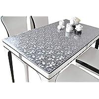 IVERNA テーブルクロス PVC製 テーブルマット デスクマット テーブルクロス 長方形 防水 撥水 耐久 汚れつきにくい くり石 70*120CM