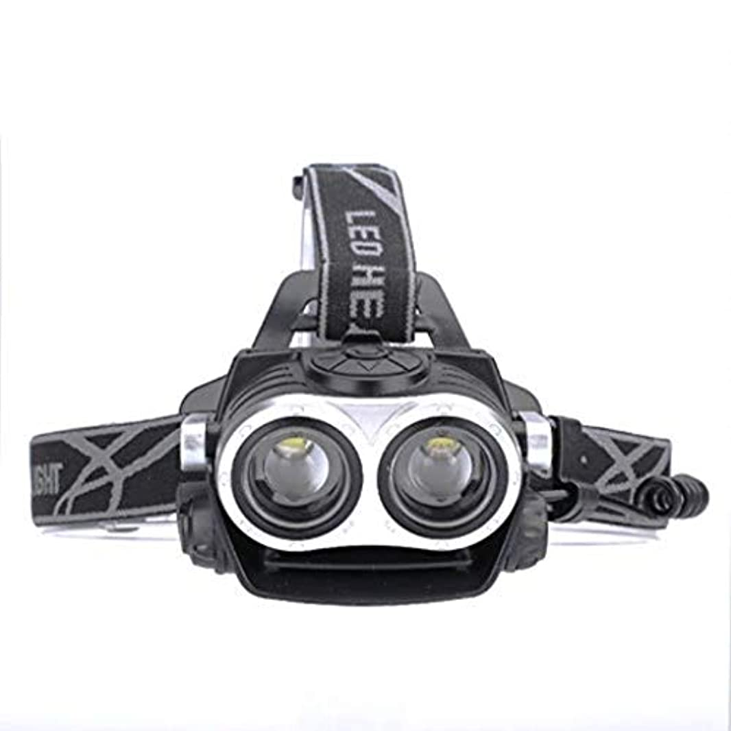 トラクターメモ起こるヘッドランプLEDヘッドマウント懐中電灯グレア照明デュアルコアUSB充電ハイパワーヘッドライト