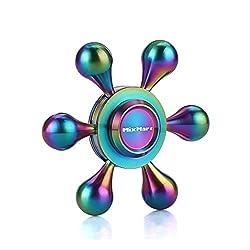 MixMart ハンドスピナー Hand Spinner 指スピナー 平均4~6分 Fidget Spinner (虹六羽)