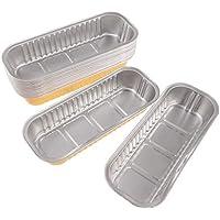 IPOTCH 使い捨て アルミ箔 加熱可能 ボウル 弁当箱 ファストフードボックス 食品 ボウル 全4種  - ゴールデン