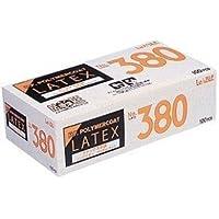 LeABLE No.380 ラテックスグローブ ノンパウダー ポリマーコート Sサイズ 1個(100枚入)