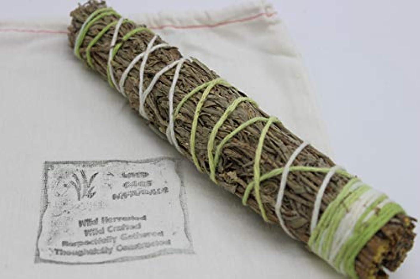 出血毛布まっすぐにするセージ/ Sweetgrass Smudge Wand 7