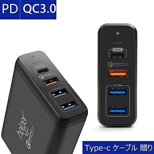 USB Type-c 充電器, 75W 4ポートUSB-C ...