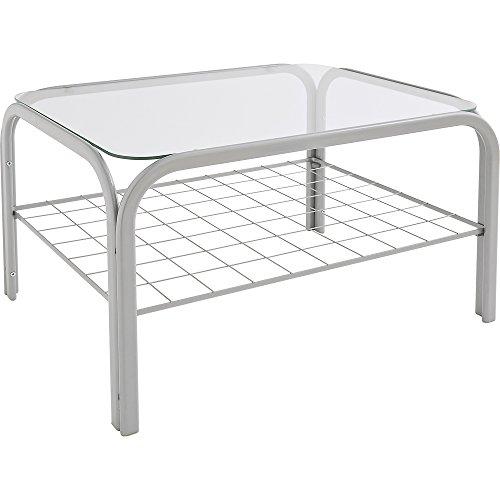アイリスオーヤマ ガラステーブル シルバー SIG-603