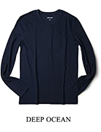 three dots(スリードッツ) メンズ Tシャツ 長袖 クルーネック アメリカ製