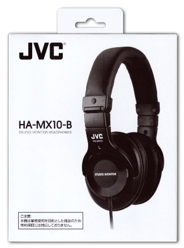 JVC HA-MX10-B 密閉型ヘッドホン スタジオモニター ブラック