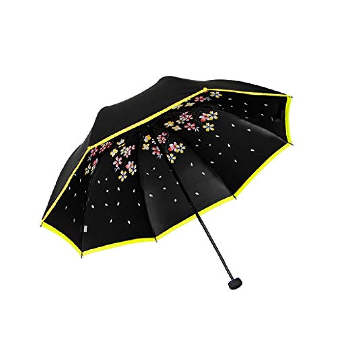 後悔年宣伝Py 傘太陽傘抗UV傘デュアルユースポータブル折りたたみ傘小さな新鮮な女神
