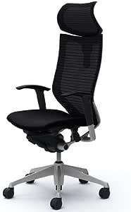 オカムラ オフィスチェア バロン 可動ヘッドレスト 可動肘 座クッション デスクチェア ブラック  CP81DR-FDF1