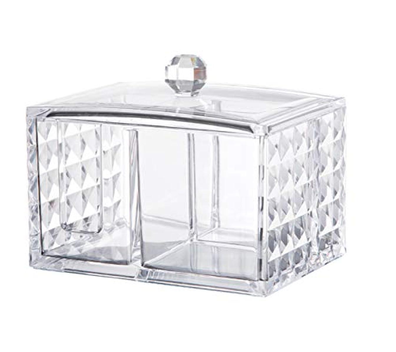 自宅で投票なしでCUAFID アクリルケース コスメ収納ボックス コットン 綿棒 小物 メイクケース ジュエリーボックス 蓋付き アクリル製 透明 …