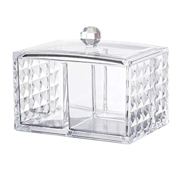 以上建設ドラムCUAFID アクリルケース コスメ収納ボックス コットン 綿棒 小物 メイクケース ジュエリーボックス 蓋付き アクリル製 透明 …